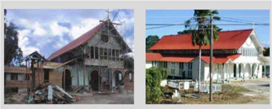 Before and After the Restoration of the Church of Our Lady of Montserrat